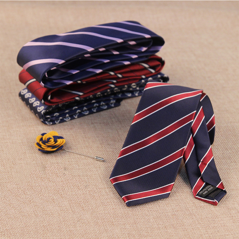 2016 NEW Arrival Polyester Silk Striped Neck Tie Men's Suit Wedding Or Party Neckwear Casual Brand Necktie For Sale(China (Mainland))