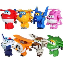 Super Fly Man Robot toys Mini Airplane Action Figures Robot Animation Children Kids Gift 8PCS/Set