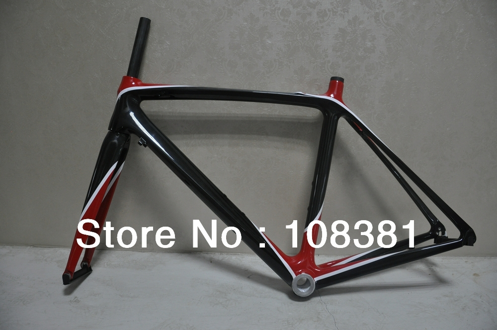 glossy finish full carbon road bike frame/cardre+fork+seat post/clear coating finish/new racing frame(China (Mainland))