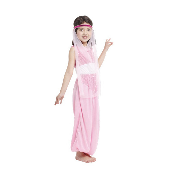 Pink Arab princess 5T-12T Children Clothing Set Kids Clothes Polyester Baby Girl Clothes Childrens Lover Sets Best Gift(China (Mainland))
