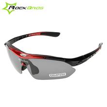 ROCKBROS Polarized MTB Sunglasses Road Bike Bicycle Cycling Running Riding Sports Glasses Goggles Eyewear 5 Lens(China (Mainland))