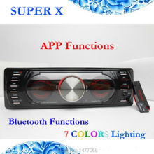 1 Din Double LCD Car Radio Bluetooth Stereo Audio MP3 USB SD A2DP Handsfree 7 Colors Lighting(China (Mainland))