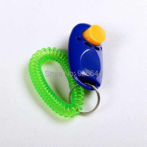Hot sales 1 Piece New Dog Pet Click Clicker Training Trainer Aid Wrist Strap free shipping(China (Mainland))