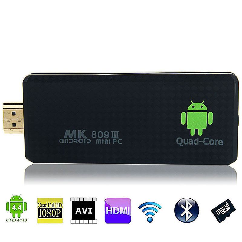 2015 cheapest MK809III wifibluetooth android smart tv dongle mk808 android mini pc(China (Mainland))