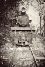 thin vinyl Photography Backdrop Old Fashioned Locomotive Custom Photo Prop backgrounds 5ftX7ft D-788