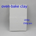 1PS Oven bake clay Polymer clay Figuline 250g packet FIMO Soft clay modeling 15colors can be