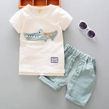 Buy Baby Boys Clothes Set 2017 Summer Kids Boy Clothes Top+Shorts Children Cartoon Casual Sport Suit Toddler Boys Clothing Sets for $8.04 in AliExpress store