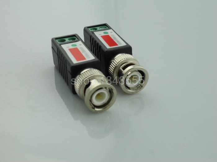 20piece wholesale Twisted CCTV Video Balun BNC Passive Transceivers Transceiver BNC Male COAX CAT5 Camera UTP DVR Cable(China (Mainland))