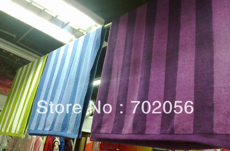 Stripe Cotton bath towel cotton Bath Sheet Beach Towels size about 180*90cm 10pcs/lot #2560(China (Mainland))