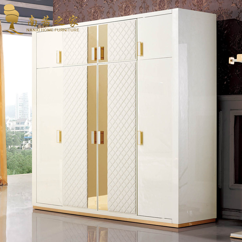 High quality italian design home furniture bedroom for Bedroom cabinet designs india