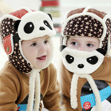 Lovely Panda Hats Baby Caps Kids Aviator Hat Bomber Winter Cap Children Masks Warm All For Children Clothing And Accessories(China (Mainland))
