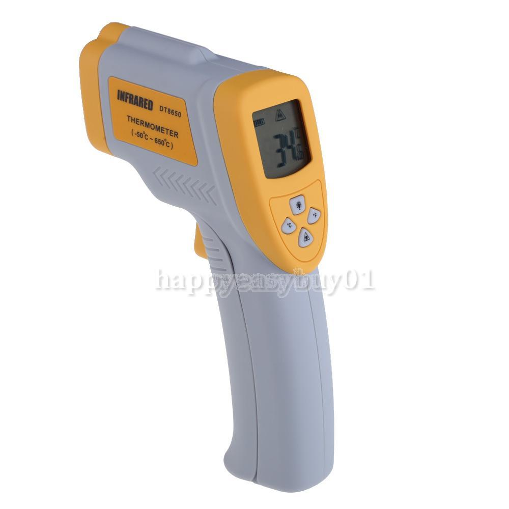 Digital Infrared Thermometer Temperature Measuring Gun Backlight DT8650 H1E1(China (Mainland))