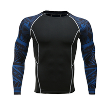 Buy Men Compression Shirts MMA Rashguard Keep Fit Fitness Long Sleeves Base Layer Skin Tight Weight Lifting Elastic Mens T Shirts for $7.18 in AliExpress store