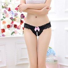 Buy Hot Sexy Trendy Women's Underwear Panties Comfortable Beading Knickers Bow Thongs G-string Lace Briefs Lingerie for $1.12 in AliExpress store