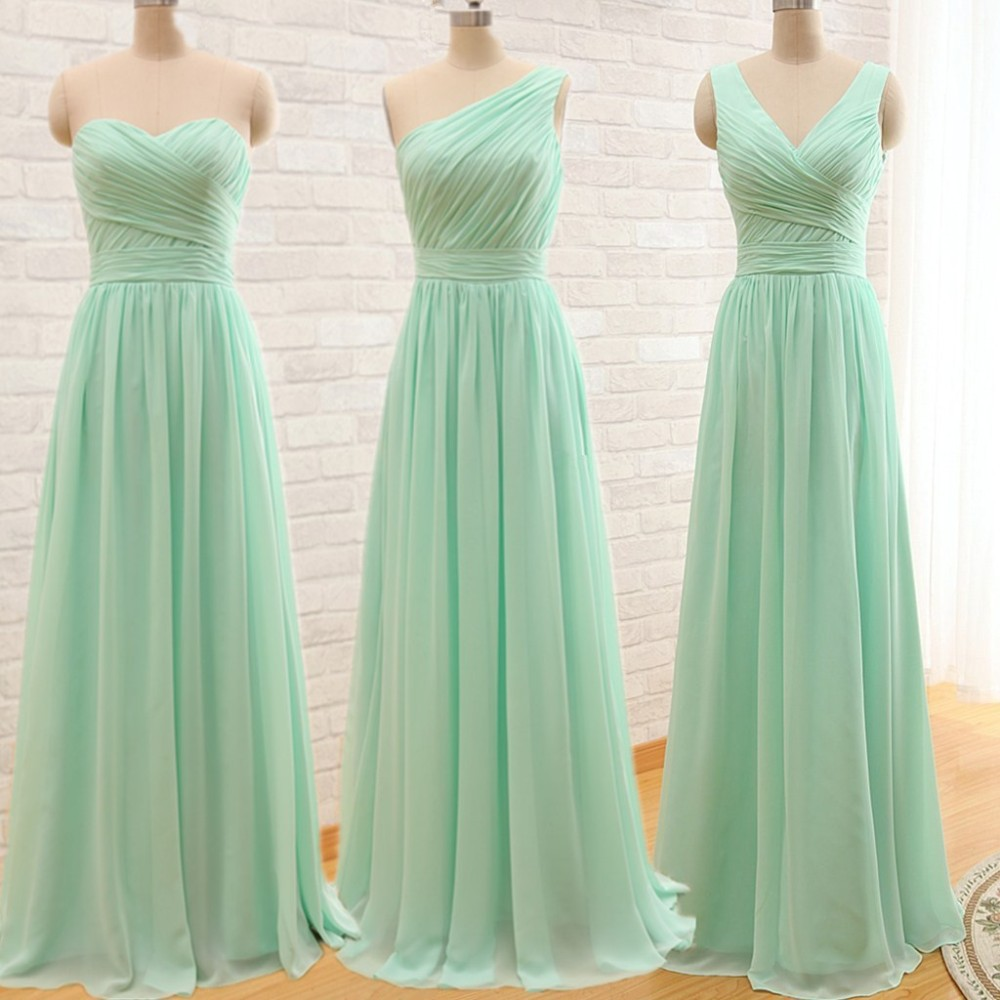 Designer Gowns Elegant Cheap Long Mint Green Long Evening Dress 2015 Party Dresses Long ves tido longo long-party-dress(China (Mainland))