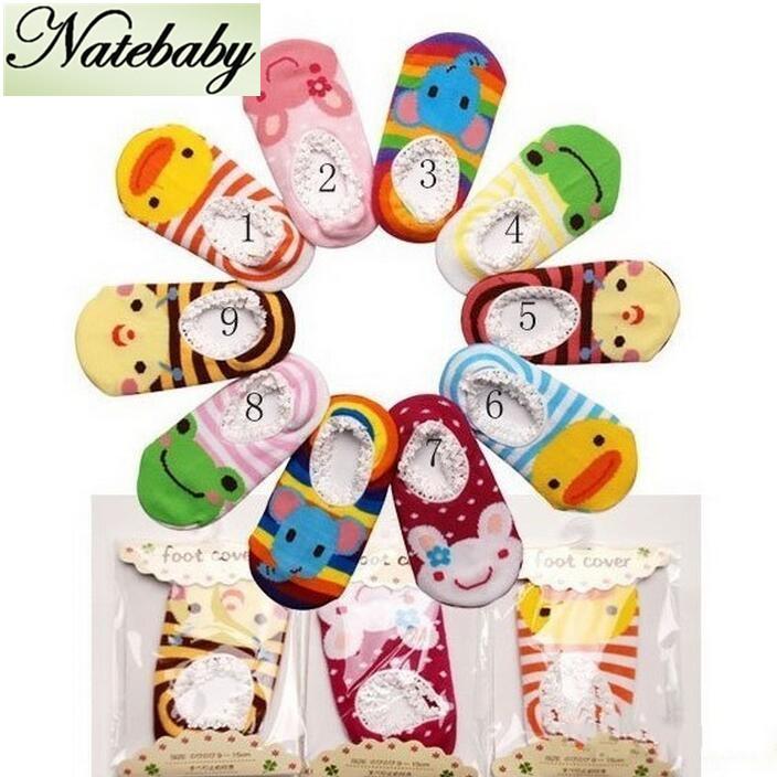 Hot sale multi color children lace anti-slip floor socks baby comfortable cotton cartoon boat socks NA0227(China (Mainland))