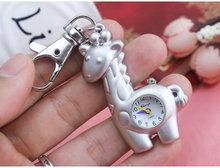 money wallet bear giraffe Little dolphin handbag Rectangular dial packetsQuartz Pocket Watch Key chain Pendant Womens Men GIfts(China (Mainland))