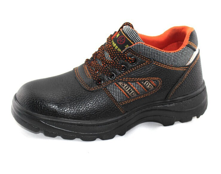 fashion safety shoes steel toe cap soft leather boots puncture proof prevent slippery brand work shoes(China (Mainland))