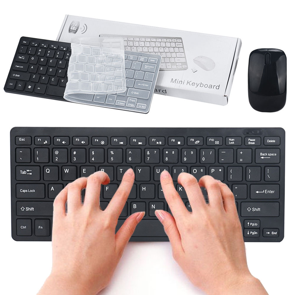 New Mini Wireless Keyboard Slim Mini 2.4Ghz Wireless Cordless Optical Kit For PC Laptop Win7/8 Gaming Mouse Wired for Tablet PC(China (Mainland))