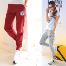 New 2016 Pants Women Print 100% Cotton Women's Cotton Sports Pants Casual Loose Thin Trousers Ankle Length Pencil Pants S-XXL(China (Mainland))
