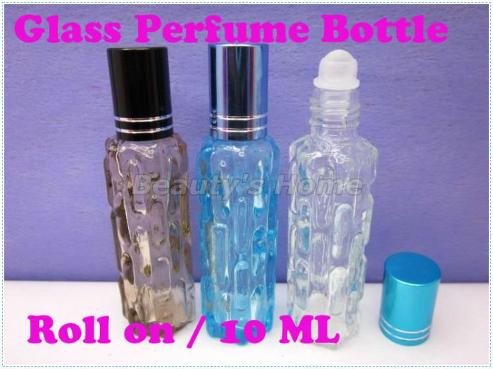 10ml roll perfume bottles colorized glass empty small refillable bottle lip gloss container #0367 - Packing Supplier(Bottles and Jars store)