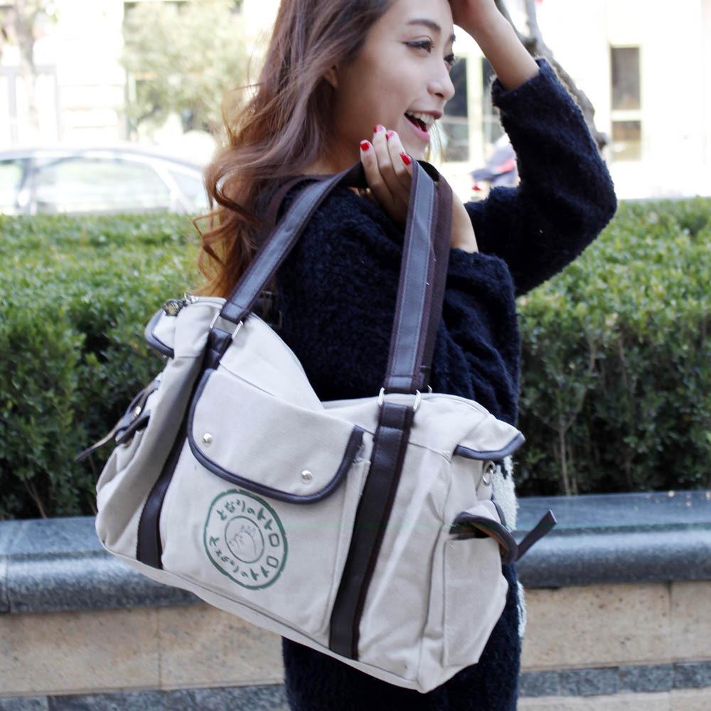 Genuine Hayao Miyazaki Totoro bag Shoulder bag Messenger bag canvas bag(China (Mainland))