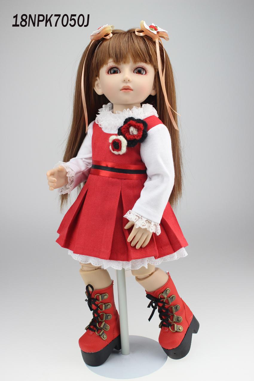 "18"" 45cm Royal princess BJD/SD girl dolls baby reborn baby doll simulation collective interactive bjd doll for kid birthday gift(China (Mainland))"