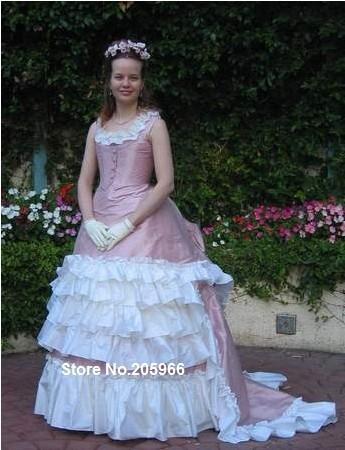 Bustle silk taffeta ball gown theater dress ball gown in dresses