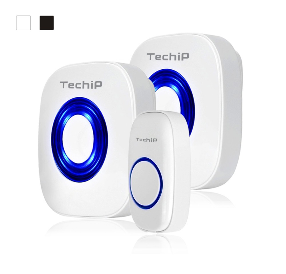 Techip Products Waterproof &Wireless Smart Doorbell with 2 Receivers DC Door Bell 36 Chimes 100m Range for Home Office(China (Mainland))