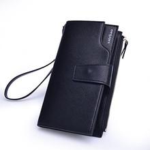 Large Capacity Zipper Cowhide Men Wallets Luxury Genuine Leather Brand Men Clutch Wallet Men's Purse Male Handbag Cell Phone Bag