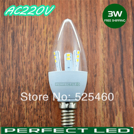 6PCS/lot 3W led bulb e14 led candle bulb led lamp e14 220v smd 5730 indoor lighting crystal lamp led bulb lamp china post white(China (Mainland))