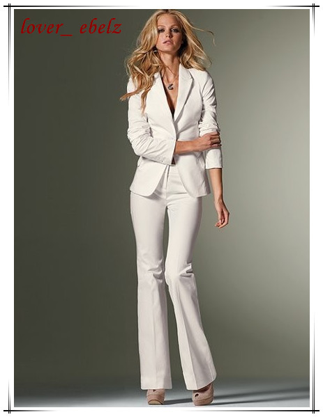 Awesome New 2015 Autumn Formal Women39s Pant Suit Elegant White Fashion OL Suit