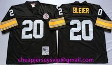Stitiched Pittsburgh Steelers Ben Roethlisberger Terry Bradshaw Rod Woodson Lynn Swann Franco Harris Rocky Bleier mens Throwback(China (Mainland))