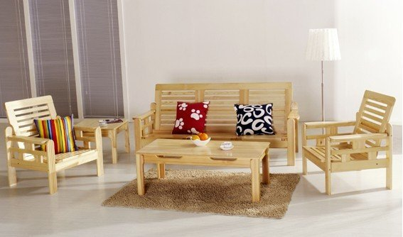 HECTOR Living Room Set Pine. China Pine Woode Living Room Furniture China Pine Wood Cream Pine