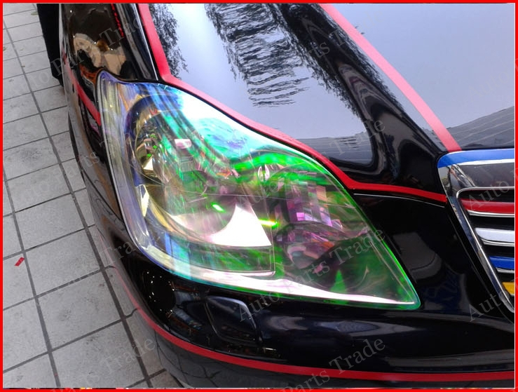 1 Roll 30CM X 8M Chameleon HeadLight Taillight Tint Vinyl Film , Color Changing HeadLight Taillight Sticker Free Shipping(China (Mainland))