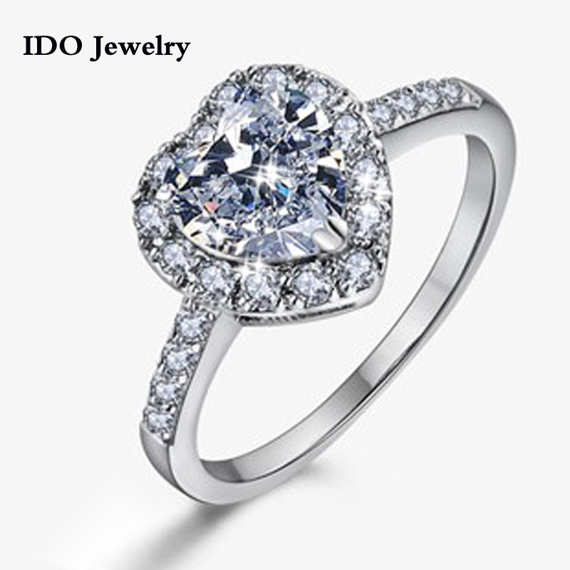 2015 Wedding Rings Platinum Plated Jewelry For Women Austria Crystal