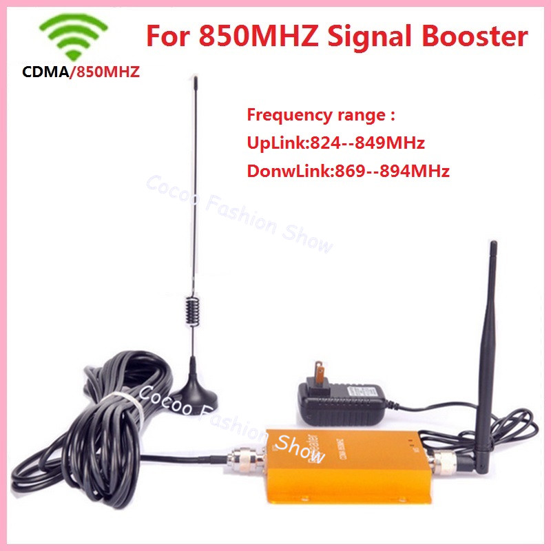 Best price ! 3G 850MHz GSM CDMA Mobile Phone Cell Phone Signal Booster Repeater Gain 60db Cellular Signal Booster With Antenna(China (Mainland))