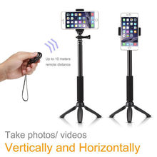 For Samsung Galaxy /For Sony Xperia 2015 Newset Camera Photo Selfie Stick Extendable Monopod+Tripod+Bluetooth Remote Shutter