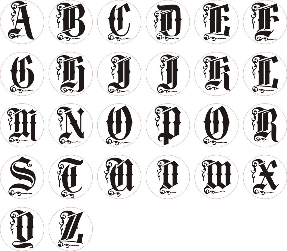 Photos Of Different Styles And Pictures Of Alphabet Letter