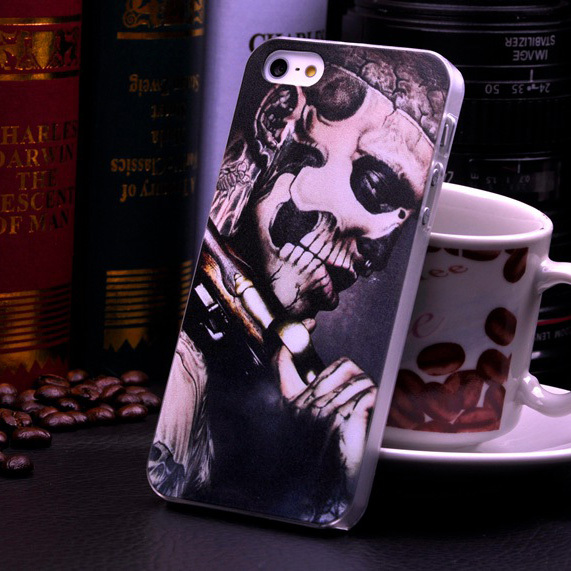 Ghost Punk Nightmare Abstract Skull Skeleton Pattern Hard Case For Apple iphone5 iphone 5 5G 5S Mobile phone Protective Cover(China (Mainland))