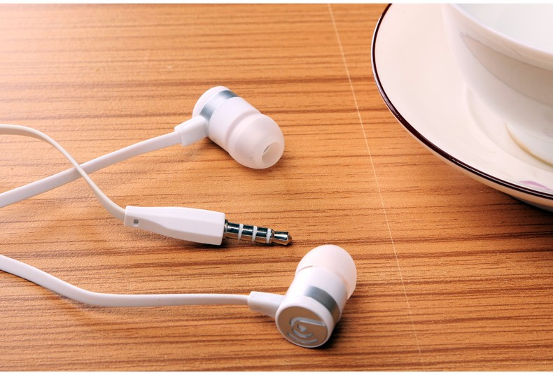 Beevo EM130 In-Ear Earphones With Mic in-ear Headset Music Headset Mobile Stereo Bass Sports-Fi fone de ouvido auriculares