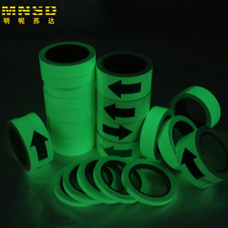 MNDS 10M 20MM Luminous Tape Self-adhesive Warning Tape Night Vision Glow In Dark Safety Security Home Decoration Tapes