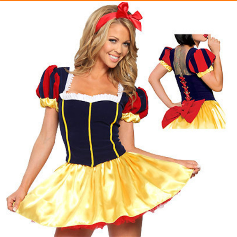 2015 new high quality adult snow white princess belle halloween costume with underskirt plus - Deguisement halloween disney ...