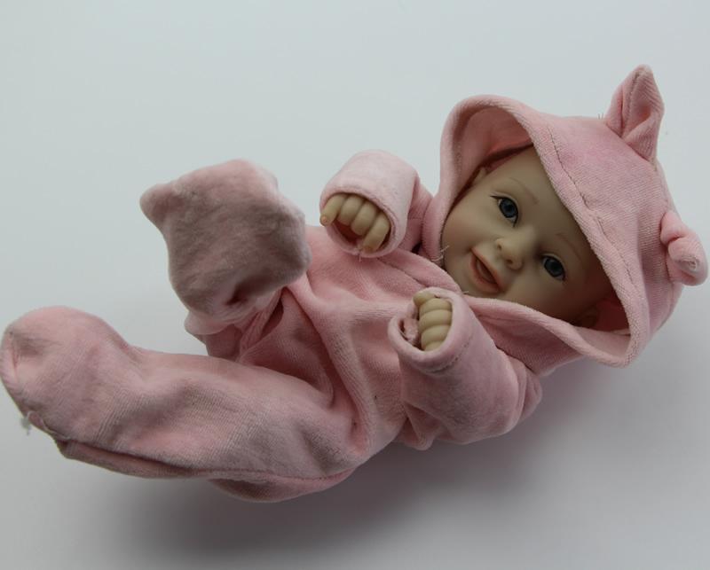 Fashion NPK Collection Doll 10 Inch Reborn Dolls Full Silicone Beautiful Realistic Girls Kids Birthday Gift(China (Mainland))