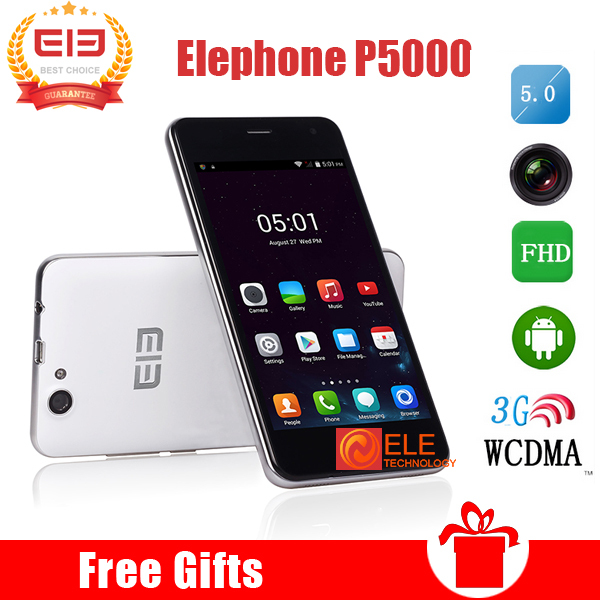 IN STOCK 5.0'' ELEPHONE P5000 MTK6592 Octa Core 2G/16G Android5.0 3G WCDMA Smart phone 1920*1080 8MP+16MP NFC 5350mAh Battery(China (Mainland))