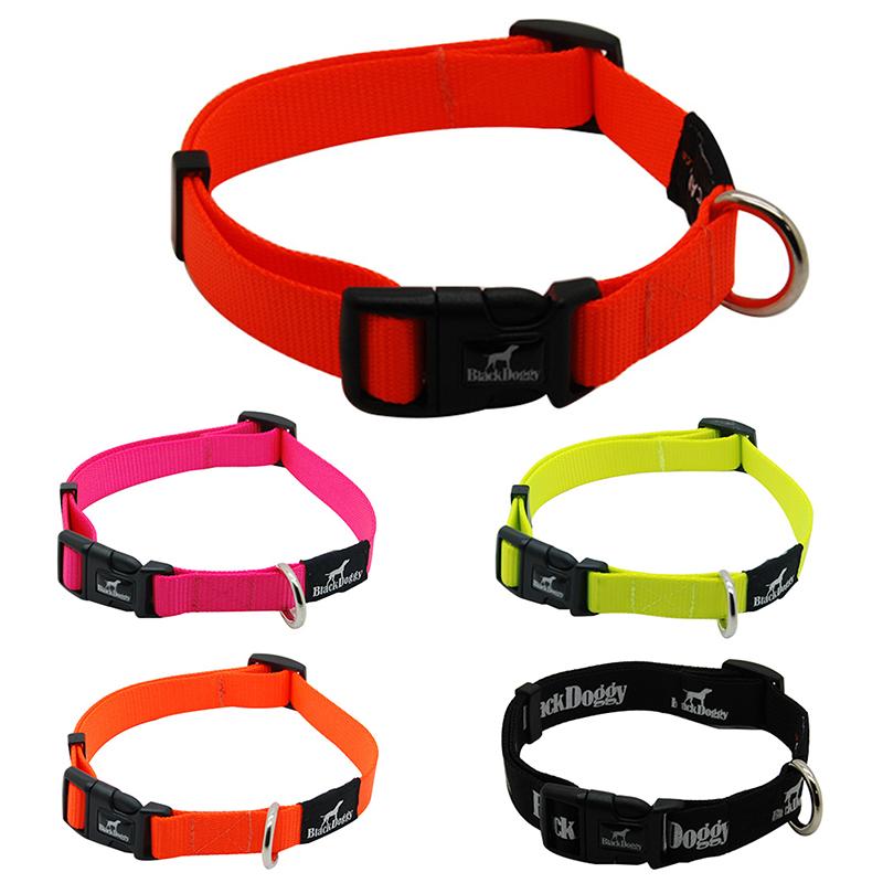 BlackDoggy Brand Design 30-50*2CM Strong Adjustable Pet Outdoor Collars Comfortable Webbing Nylon Pet Dog Collars VC15-CL002(China (Mainland))