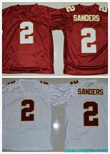 2016 Florida State Seminoles College Jerseys 2 Deion Sanders Jersey Throwback Color Red White(China (Mainland))