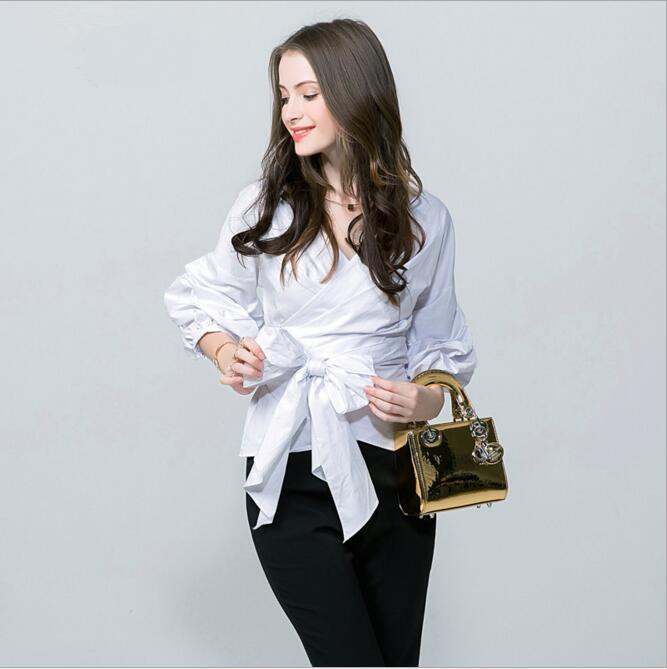 latest design new fashion 2017 spring summer blouses women s big lantern  sleeve v neck bow. Popular Latest Design Top Buy Cheap Latest Design Top lots from