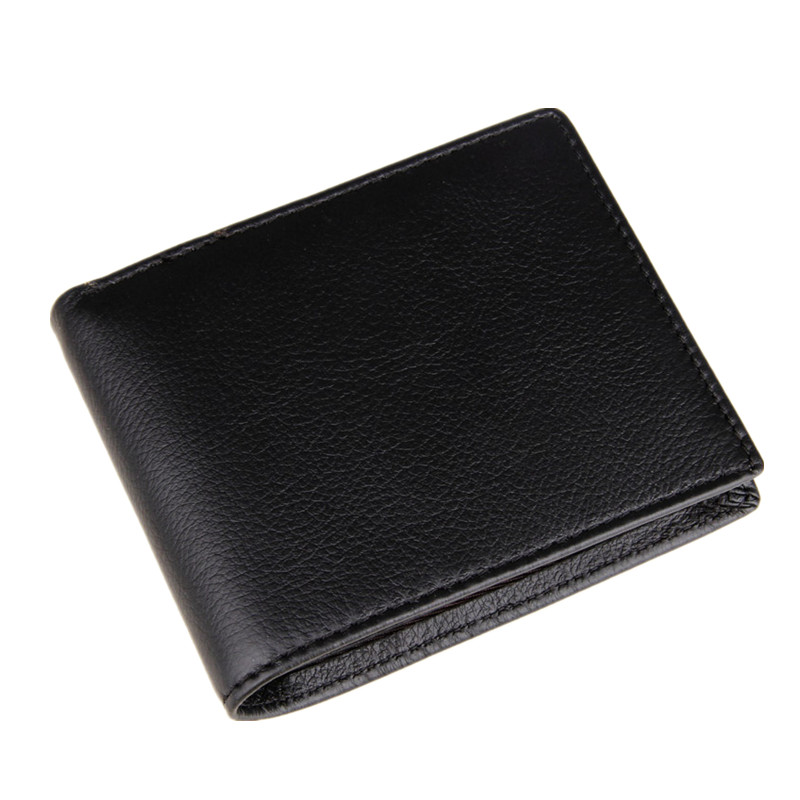 CL01265 Business Casual 100% Real Genuine Cowhide Leather Men Short Wallet Wallets Purse Coin Pocket Male Zipper(China (Mainland))