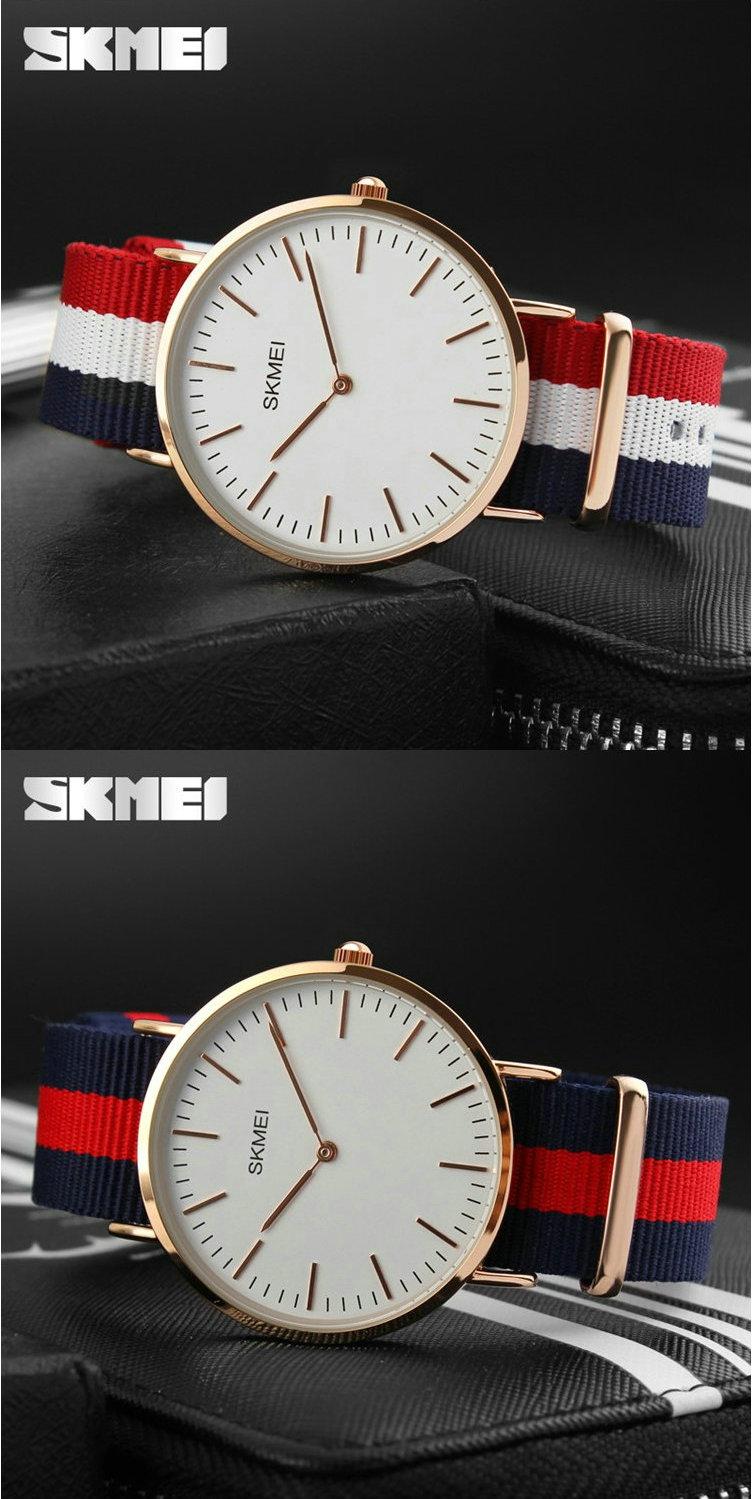 Skmei 2 руки ультра тонкий натуральная кожа ультра тонкий кварцевые часы для человека